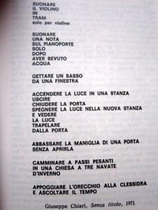 Giuseppe Chiari, Senza titolo, 1971